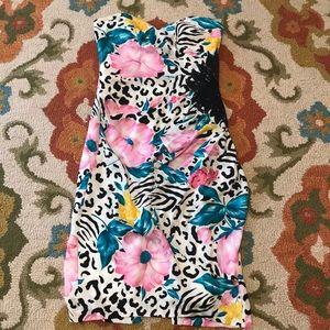 A.J. Bari Fabulous Vintage tropical dress